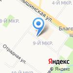 Киоск по продаже хлебобулочных изделий на карте Ульяновска