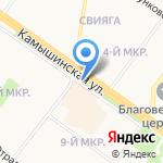 Киоск по продаже молочной продукции на карте Ульяновска