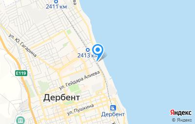Местоположение на карте пункта техосмотра по адресу Респ Дагестан, г Дербент, ул Строительная, д 3С