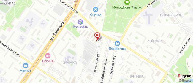 Карта расположения пункта доставки Билайн в городе Ульяновск
