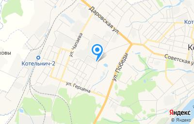 Местоположение на карте пункта техосмотра по адресу Кировская обл, г Котельнич, ул Тургенева, д 32