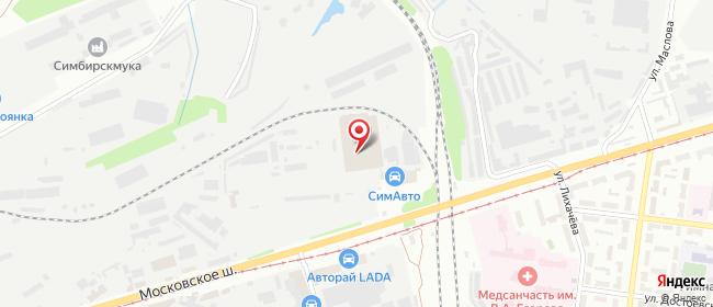 Карта расположения пункта доставки DPD Pickup в городе Ульяновск