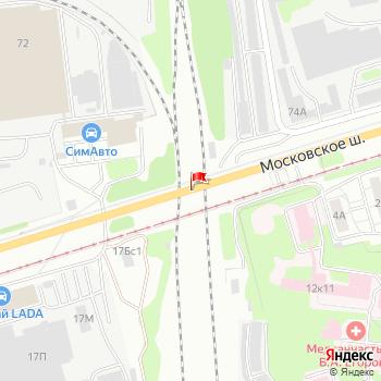 г. Ульяновск, шоссе. Московское, на карта