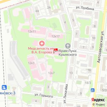 г. Ульяновск, ул. Лихачева,12 на карта