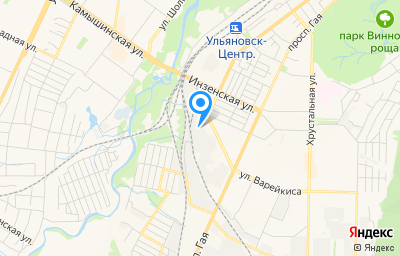 Местоположение на карте пункта техосмотра по адресу г Ульяновск, ул Локомотивная, д 140