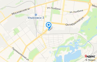 Местоположение на карте пункта техосмотра по адресу г Ульяновск, ул Октябрьская, д 22Л