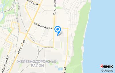 Местоположение на карте пункта техосмотра по адресу г Ульяновск, ул Хрустальная, д 47Б