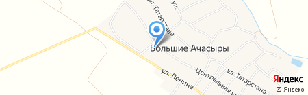 Почтовое отделение №515 на карте Больших Ачасыров