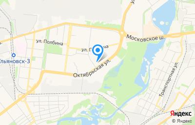 Местоположение на карте пункта техосмотра по адресу г Ульяновск, ул Октябрьская, д 51