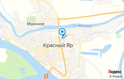 Местоположение на карте пункта техосмотра по адресу Астраханская обл, с Красный Яр, ул Ворошилова, д 1/1Б