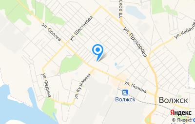 Местоположение на карте пункта техосмотра по адресу Респ Марий Эл, г Волжск, ул Ленина, д 60