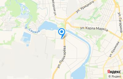 Местоположение на карте пункта техосмотра по адресу г Ульяновск, ул Азовская, д 55