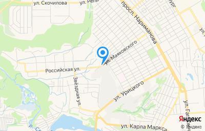 Местоположение на карте пункта техосмотра по адресу г Ульяновск, ул Маяковского, зд 55/11