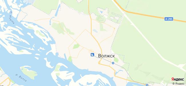 Волжск - объекты на карте