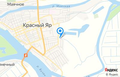 Местоположение на карте пункта техосмотра по адресу Астраханская обл, с Красный Яр, ул Заводская, д 2А