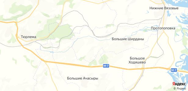 Малые Ширданы на карте