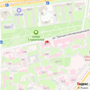 г. Ульяновск, ул. 3-го Интернационала,7 на карта