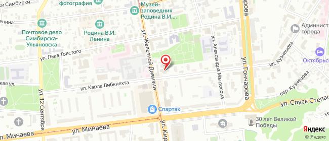 Карта расположения пункта доставки Ульяновск Карла Либкнехта в городе Ульяновск