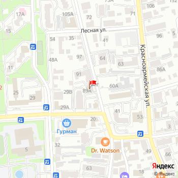 г. Ульяновск, ул. Федерации,89А на карта