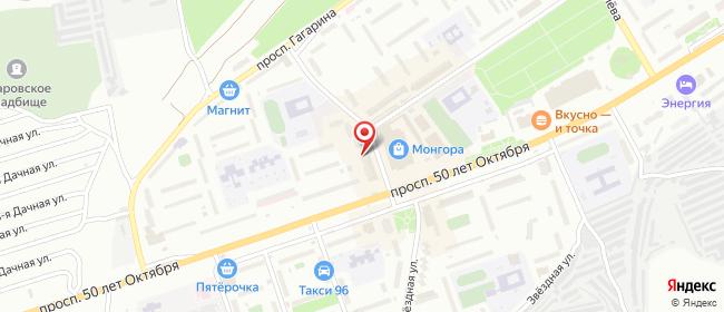 Карта расположения пункта доставки Сызрань 50 лет Октября в городе Сызрань