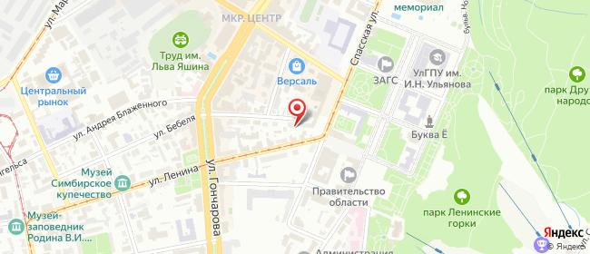 Карта расположения пункта доставки Ульяновск Бебеля в городе Ульяновск