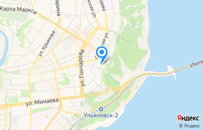 Местоположение на карте пункта техосмотра по адресу г Ульяновск, проезд Инженерный 1-й, д 13