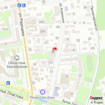 г. Ульяновск, ул. Корюкина,17 на карта