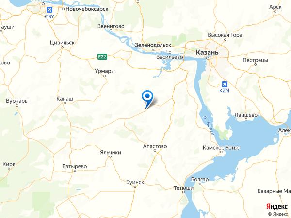 деревня Беляево на карте