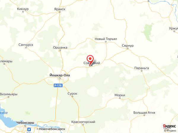 поселок Ургакш на карте