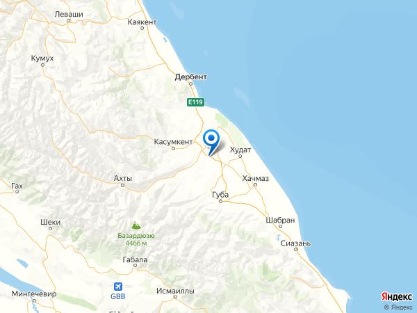 посёлок Самур на карте