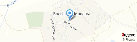 Фельдшерско-акушерский пункт на карте Больших Ширданов