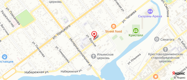 Карта расположения пункта доставки Сызрань Чапаева в городе Сызрань