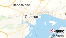 Гостиницы города Сызрань на карте