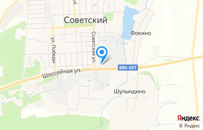 Местоположение на карте пункта техосмотра по адресу Респ Марий Эл, пгт Советский, ул Чапаева, д 1А