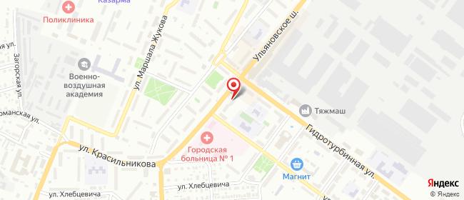 Карта расположения пункта доставки Сызрань Гоголя в городе Сызрань