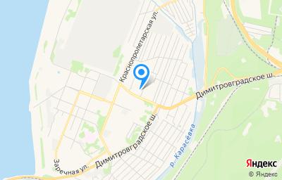 Местоположение на карте пункта техосмотра по адресу г Ульяновск, пер Рабочий 1-й, д 2