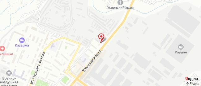 Карта расположения пункта доставки Билайн в городе Сызрань