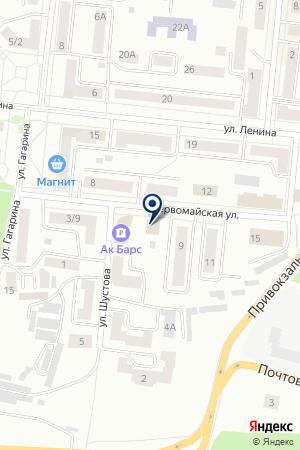 ЗЕЛЕНОДОЛЬСКИЙ ФИЛИАЛ АКБ АК БАРС БАНК на карте Зеленодольска
