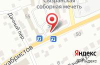 Схема проезда до компании Строй Дизайн в Сызрани