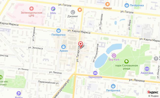Карта расположения пункта доставки Пункт выдачи в городе Зеленодольск