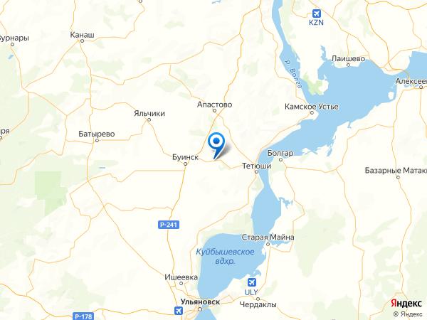 село Кляшево на карте