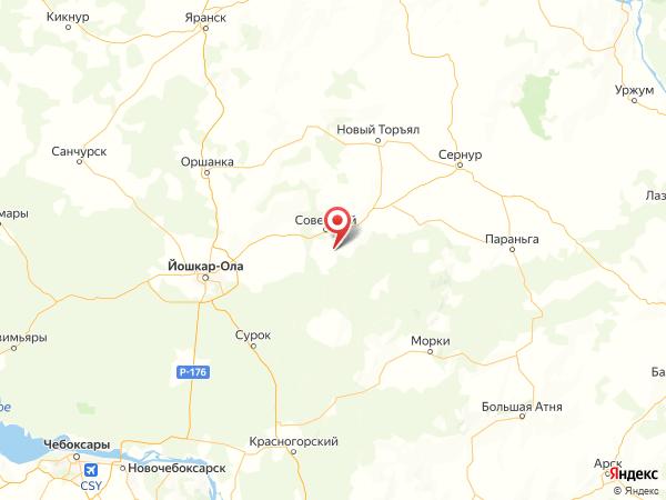 село Ронга на карте
