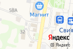 Схема проезда до компании Регина в Нижних Вязовых