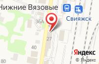 Схема проезда до компании Кулинария в Нижних Вязовых