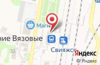 Схема проезда до компании Свияжск в Нижних Вязовых