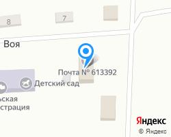 Схема местоположения почтового отделения 613392
