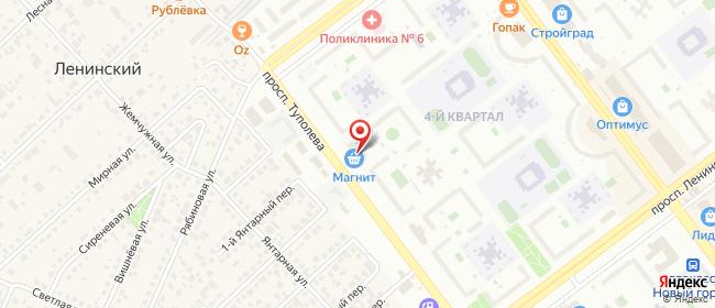 Карта расположения пункта доставки На Туполева в городе Ульяновск