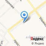 Городская поликлиника №6 на карте Ульяновска