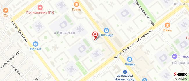 Карта расположения пункта доставки СИТИЛИНК в городе Ульяновск