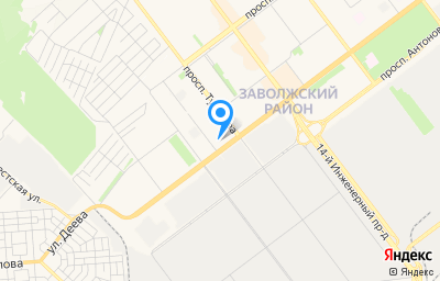 Местоположение на карте пункта техосмотра по адресу г Ульяновск, пр-кт Туполева, д 1К/98